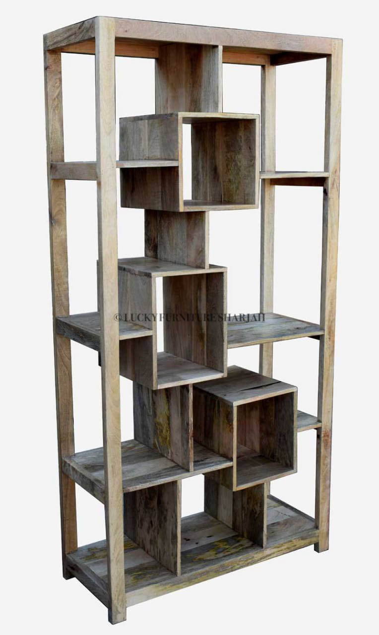 Wooden Bookshelf  simple lucky-furniture-handicrafts