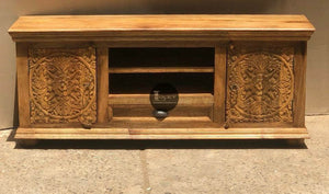 Flower Carved Tv Stand  simple lucky-furniture-handicrafts