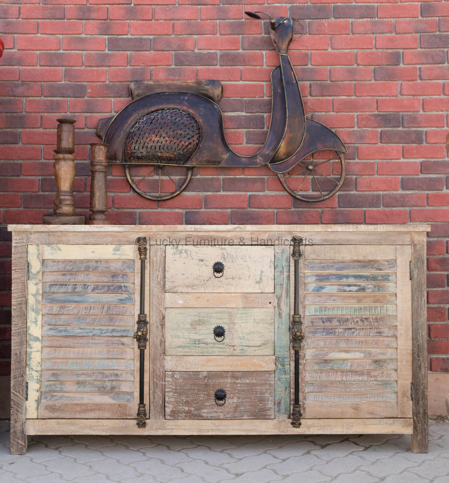Recycle Shutter Sideboard  simple lucky-furniture-handicrafts