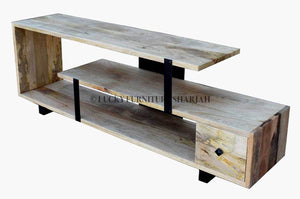 Staggered Tv Stand with 1 Draw  variable lucky-furniture-handicrafts.