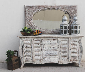 Oval Carved Mirror Frame  simple lucky-furniture-handicrafts.