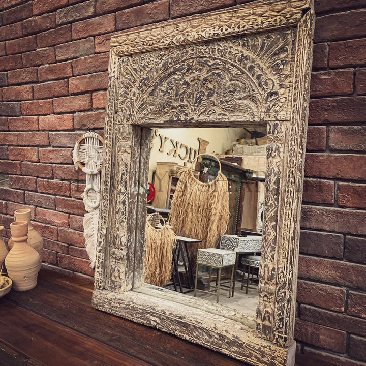 Antique Carved mirror frame   lucky-furniture-handicrafts.