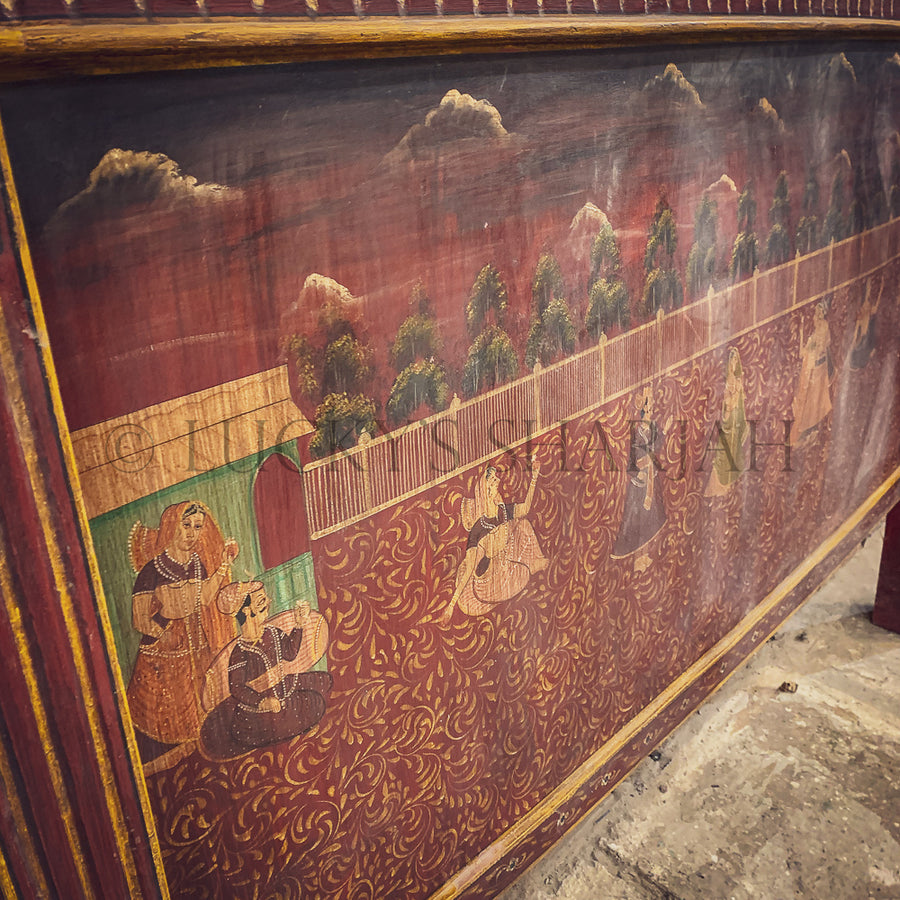 Traditional hand-painted headboard   lucky-furniture-handicrafts.