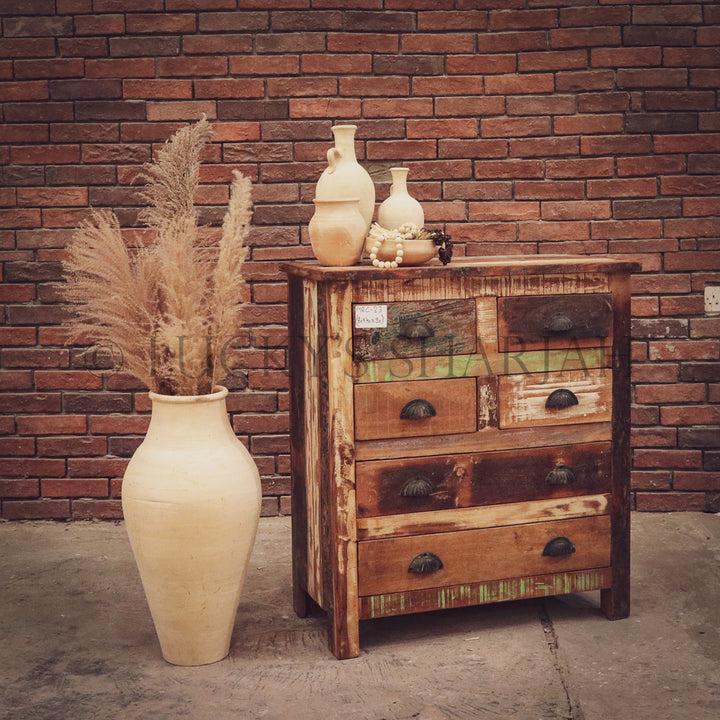 Recycle 6 drawer drawchest   lucky-furniture-handicrafts.