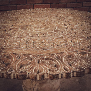Carved Panel dining table   lucky-furniture-handicrafts.