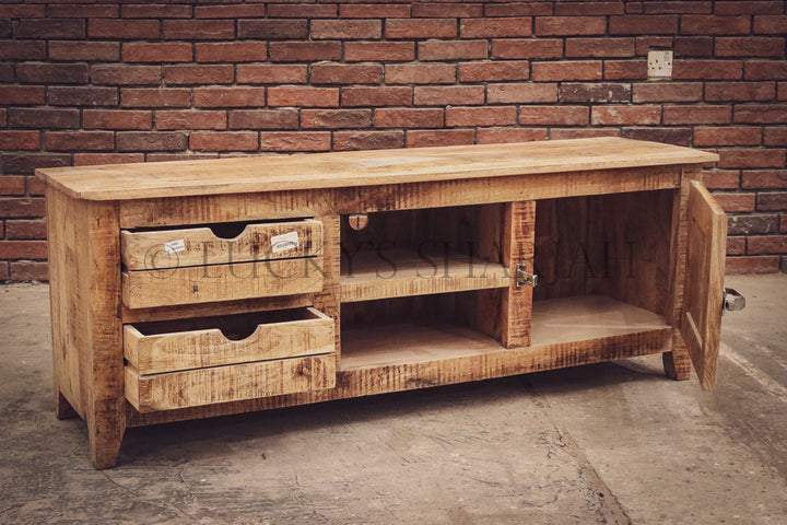 Industrial tv stand with fridge handle   lucky-furniture-handicrafts.