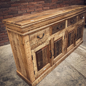 Railway wood inlay sideboard   lucky-furniture-handicrafts.