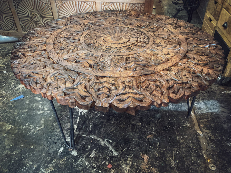Carved Panel coffee table   lucky-furniture-handicrafts.