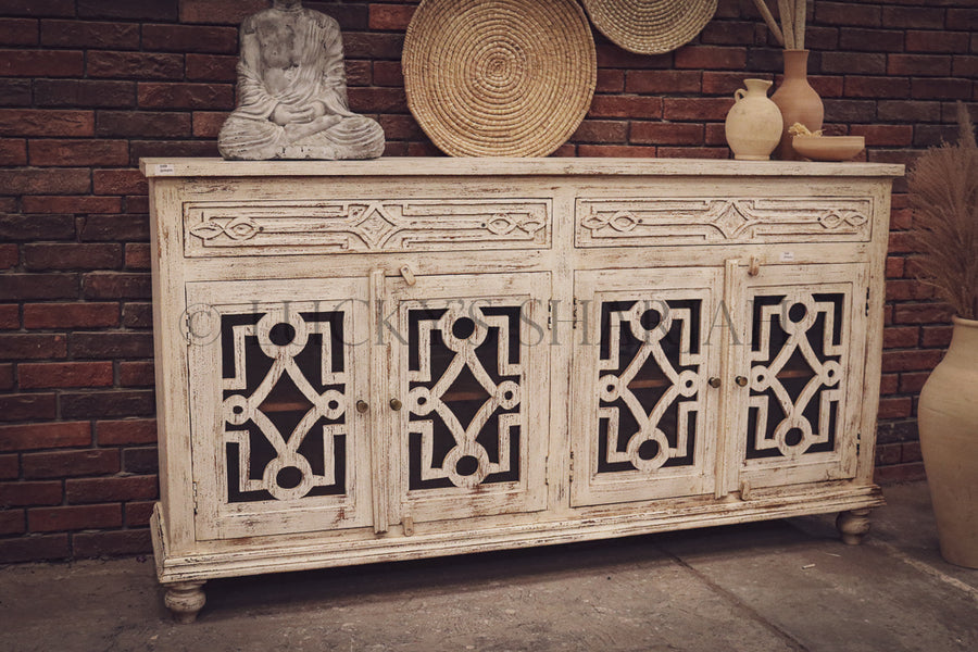 Sectional whitewash sideboard   lucky-furniture-handicrafts.