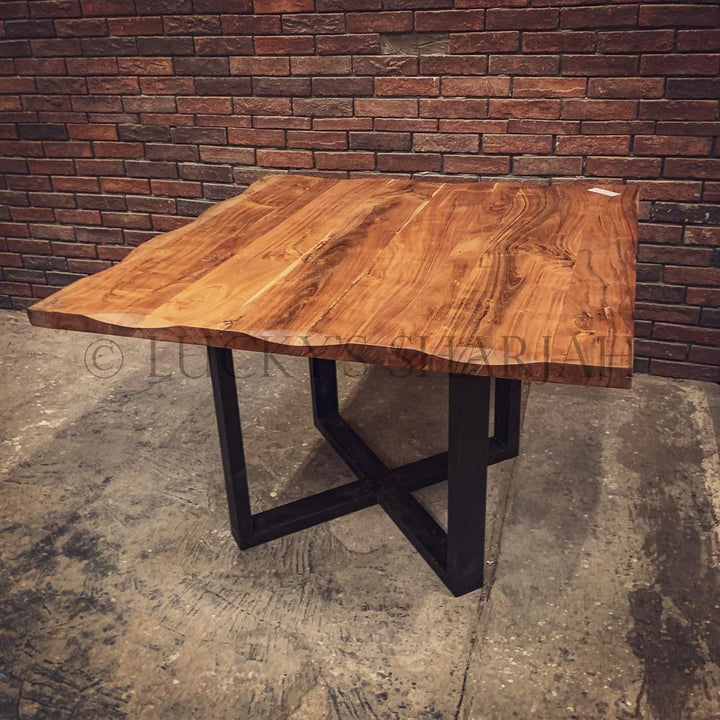 Acacia wood Square table   lucky-furniture-handicrafts.