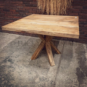 Square Dining Table Mango wood   lucky-furniture-handicrafts.