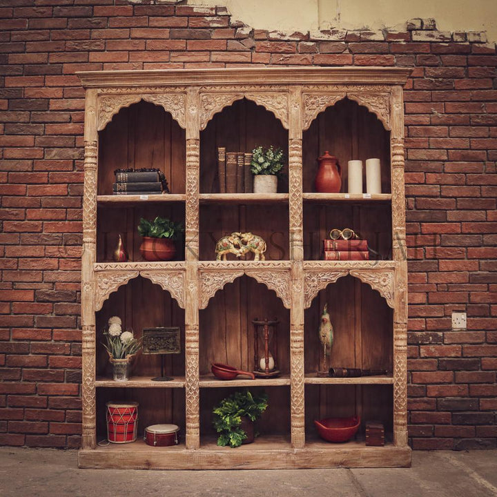 Sectional Carved bookshelf   lucky-furniture-handicrafts.