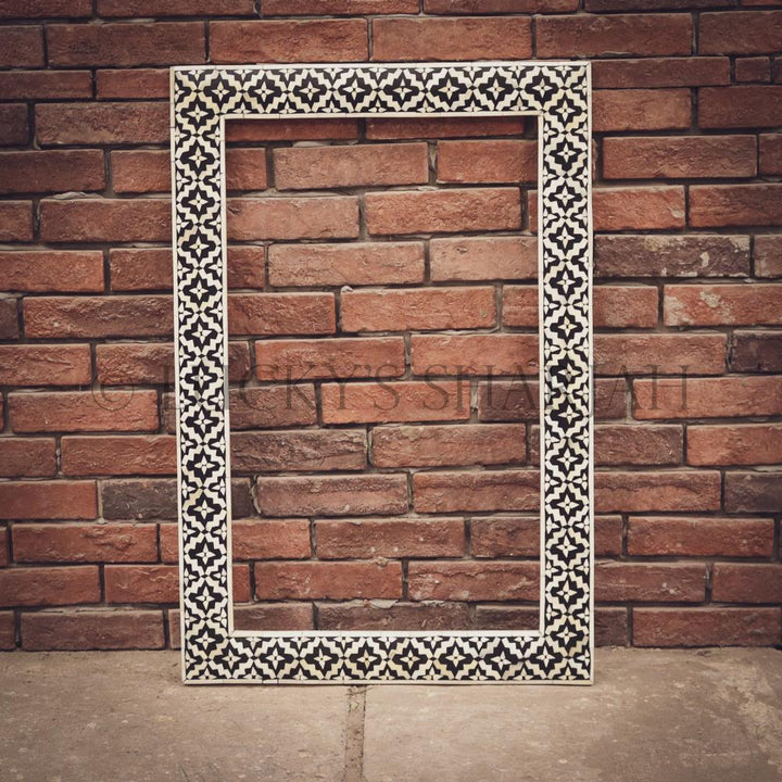 Geometric Bone Inaly Mirror Frame   lucky-furniture-handicrafts