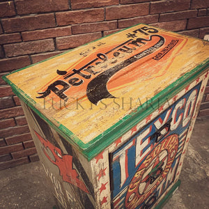 Handpainted Retro Industrial Drawchest   lucky-furniture-handicrafts.