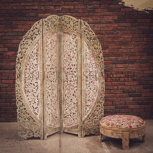 Carved rounded screen/room divider   lucky-furniture-handicrafts.