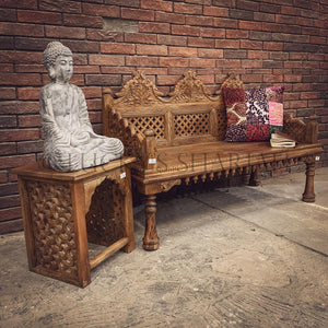 Intricate Carved Bench   lucky-furniture-handicrafts