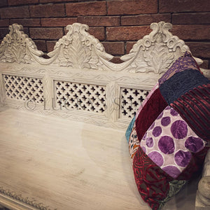 Intricate Detailed Carved Bench   lucky-furniture-handicrafts
