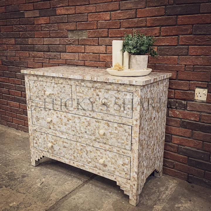 Mother of pearl inlay dresser drawers   lucky-furniture-handicrafts