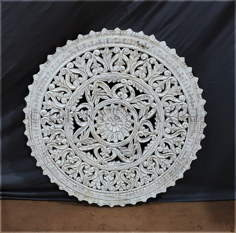 Round Carved Panel   lucky-furniture-handicrafts.