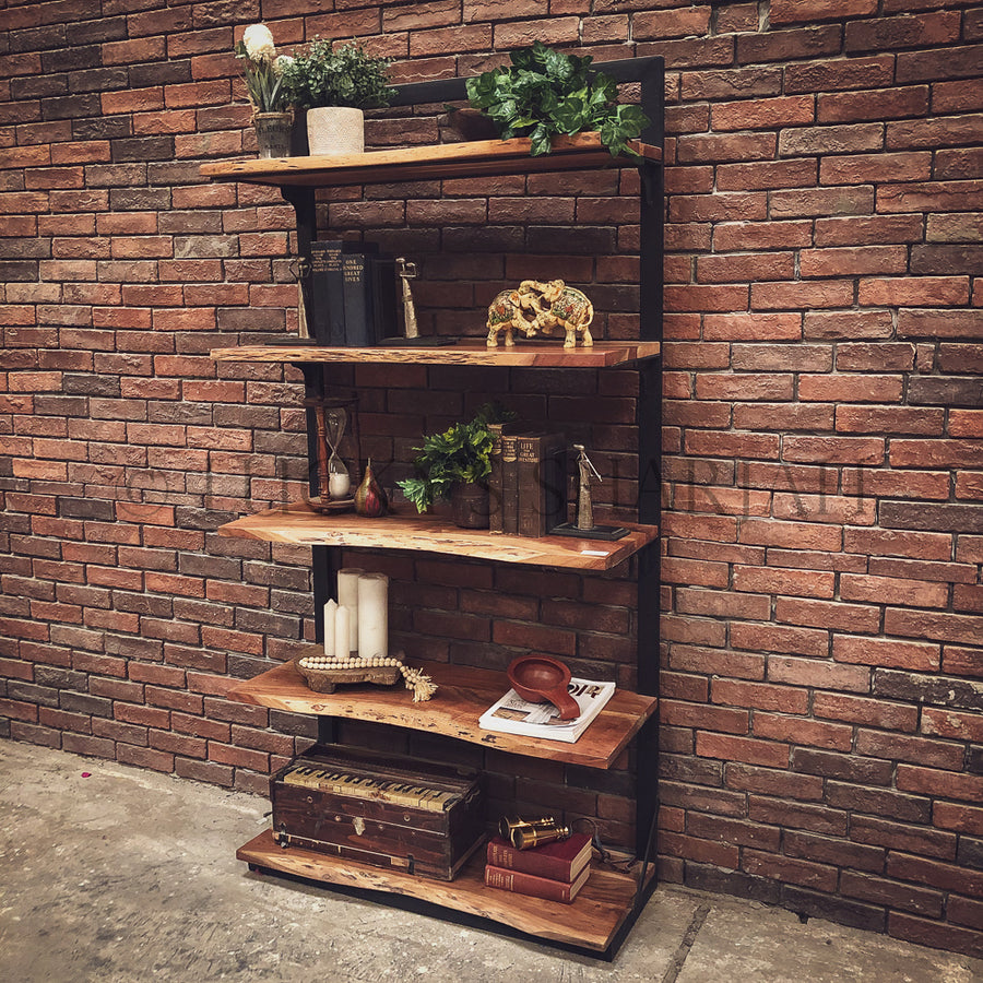 Live Edge Floating Bookshelf   lucky-furniture-handicrafts.