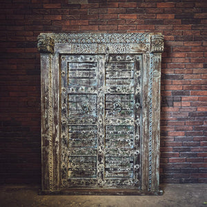 Antique Rustic Blue old door   lucky-furniture-handicrafts.