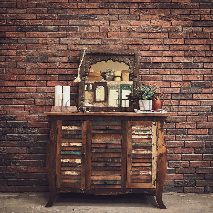 Shutter Recycle Design sideboard dresser   lucky-furniture-handicrafts