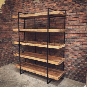 Tray Industrial Bookshelf   lucky-furniture-handicrafts.