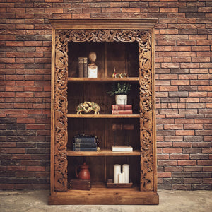 Heavy Carved Border Bookshelf   lucky-furniture-handicrafts