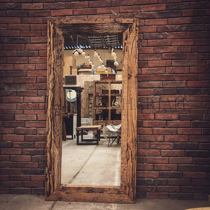 Railway Sleeper Mirror Frame   lucky-furniture-handicrafts