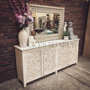 Carved Sideboard 4 door   lucky-furniture-handicrafts.