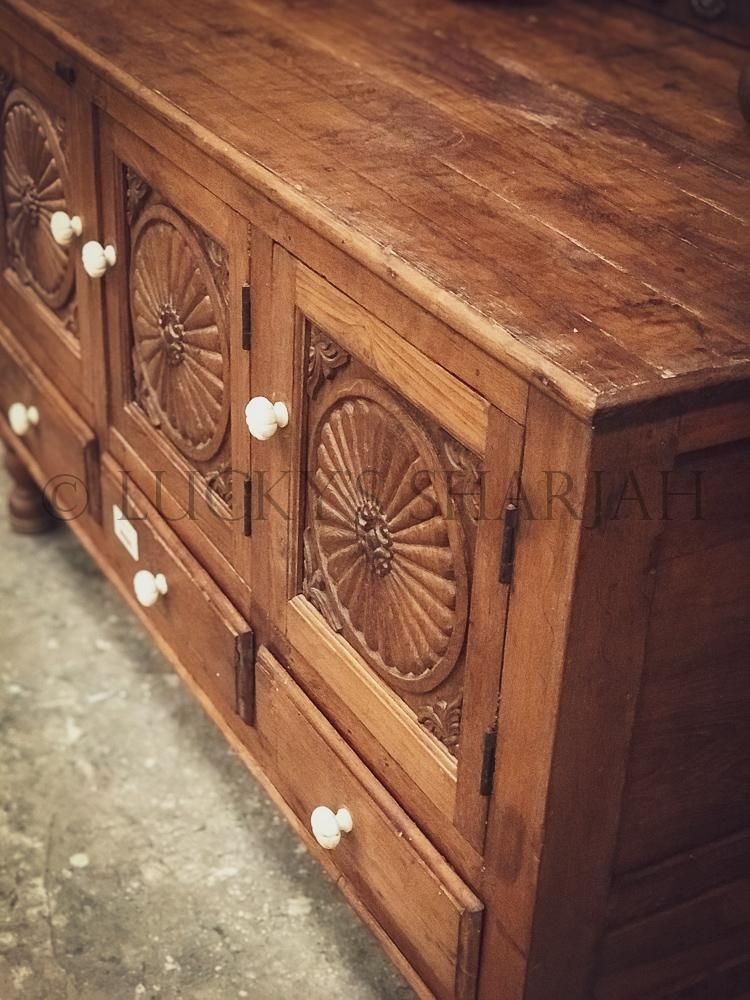"""Suraj design"" vintage carved dresser   lucky-furniture-handicrafts."