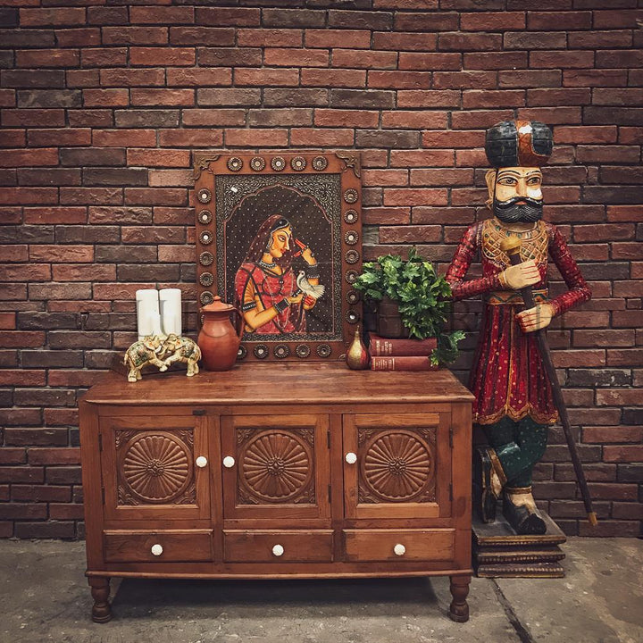 """Suraj design"" vintage carved dresser   lucky-furniture-handicrafts"