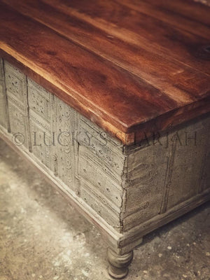Boho vintage trunk box   lucky-furniture-handicrafts