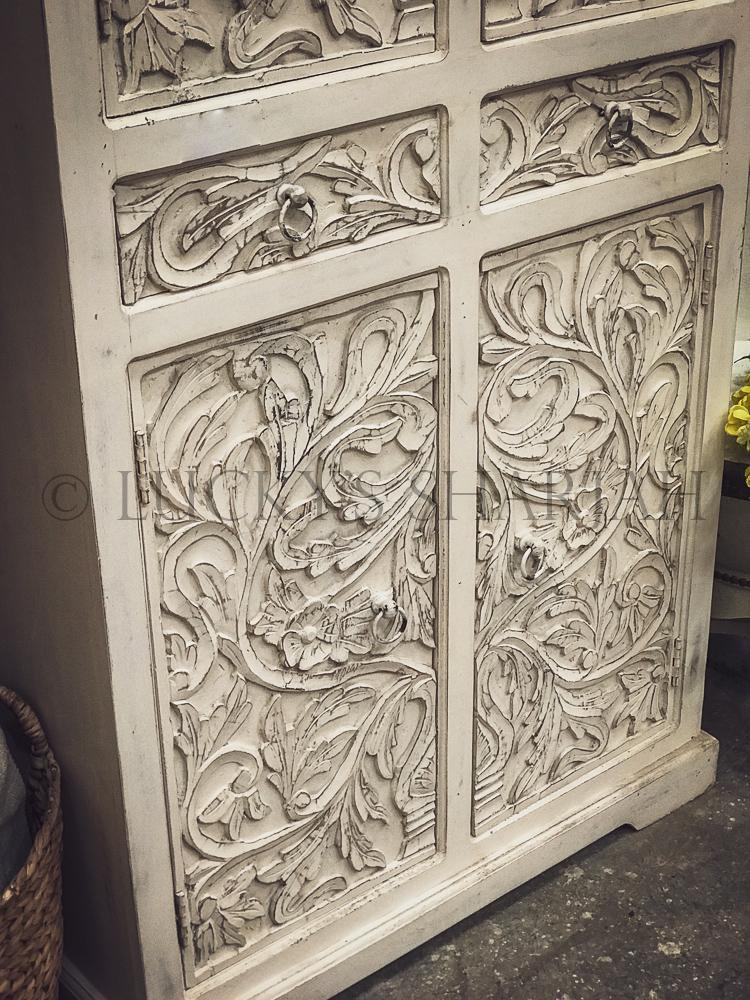 Carved Cabinet with drawer   lucky-furniture-handicrafts.
