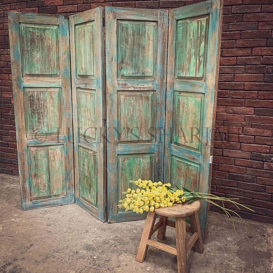 Vibrant Paneled Room Divider   lucky-furniture-handicrafts.