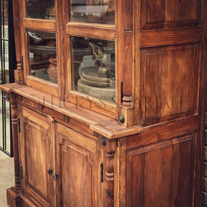 Victorian classic Wooden glass cabinet   lucky-furniture-handicrafts.