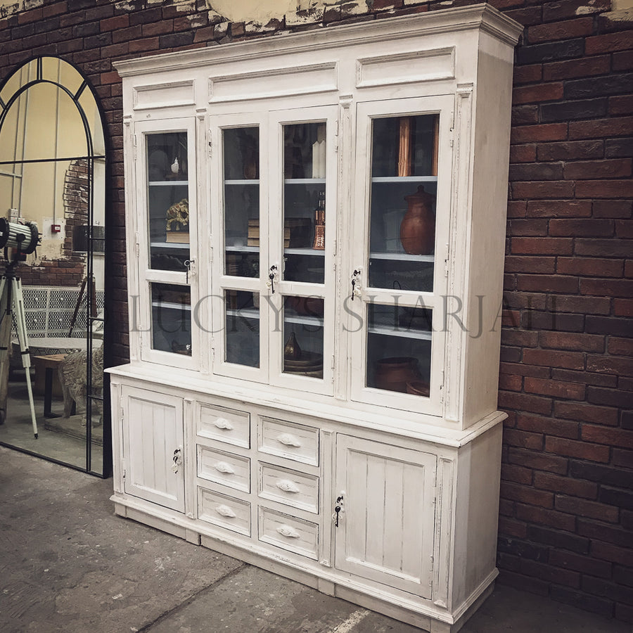 Victorian Glass door cabinet Shabby Chic   lucky-furniture-handicrafts.