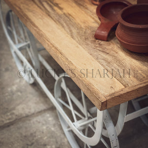 Low Cart wheel table   lucky-furniture-handicrafts.