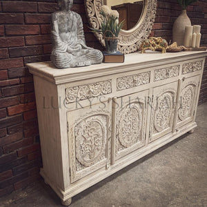 Carved high sideboard   lucky-furniture-handicrafts.