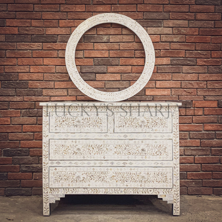 Mother of pearl inlay drawchest   lucky-furniture-handicrafts