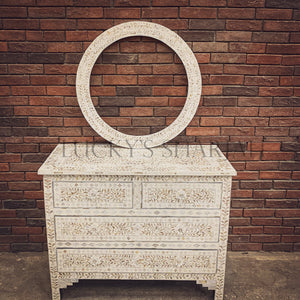 Mother of pearl inlay drawchest   lucky-furniture-handicrafts.
