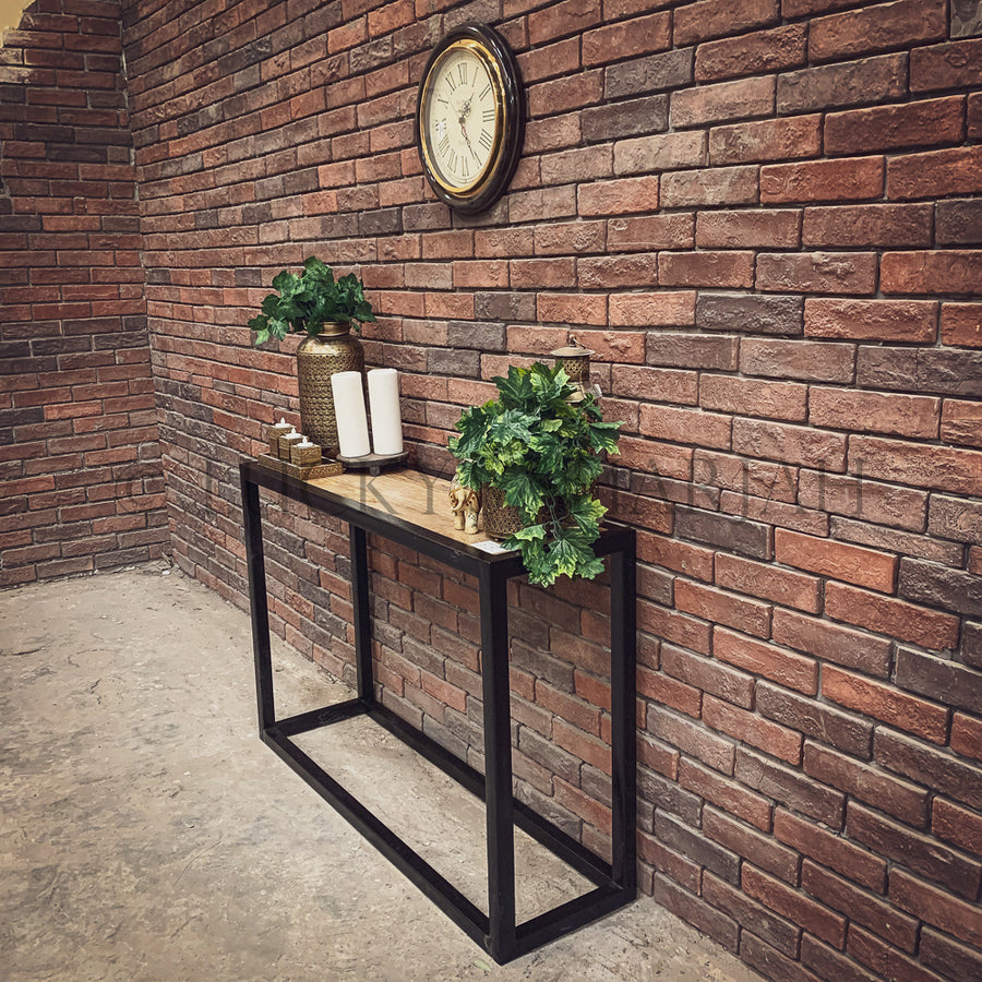 Industrial Entryway Console   lucky-furniture-handicrafts.