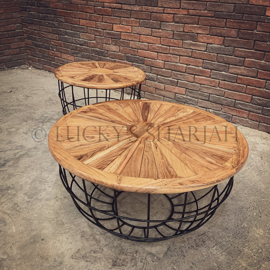 SOL industrial round side table   lucky-furniture-handicrafts