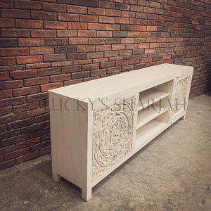 Carved Design Tv Stand 3 draw 1 door   lucky-furniture-handicrafts.