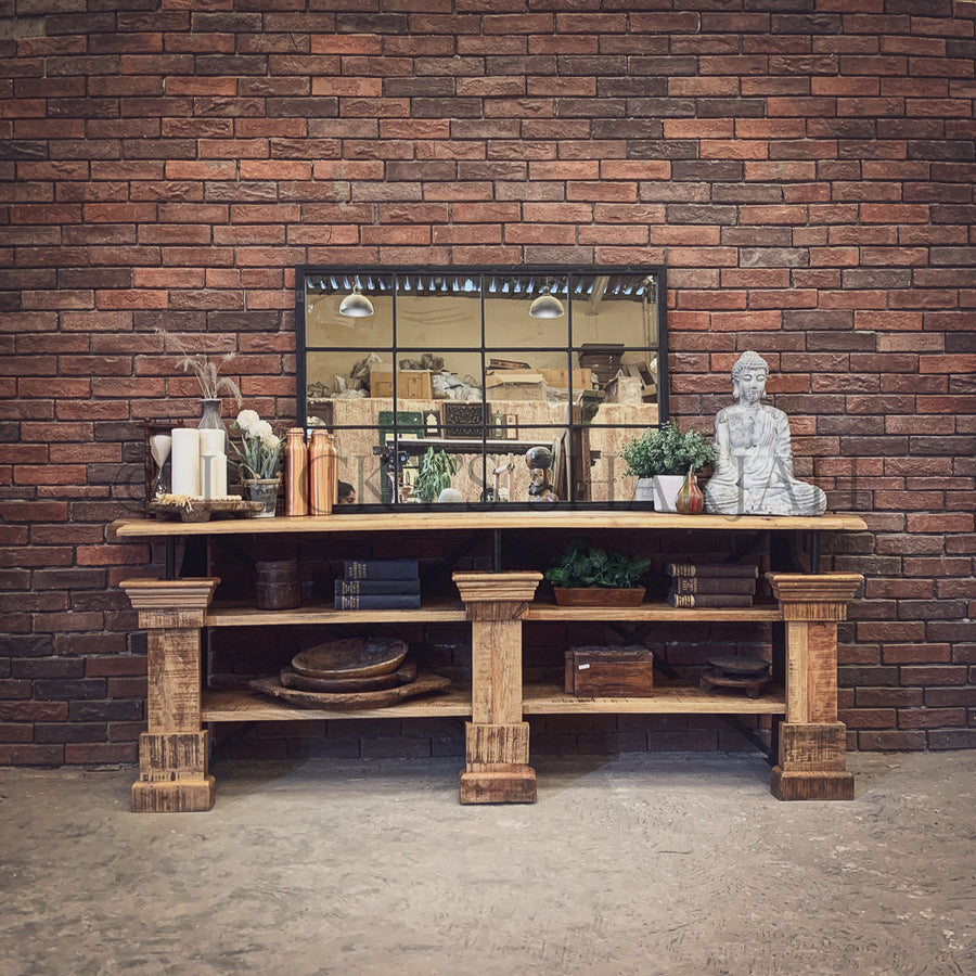 Imperial Industrial Entryway Console   lucky-furniture-handicrafts.