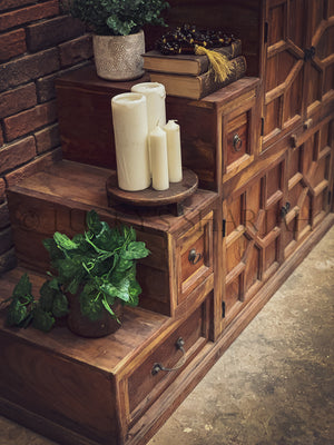 Step Design Cabinet Bookshelf   lucky-furniture-handicrafts