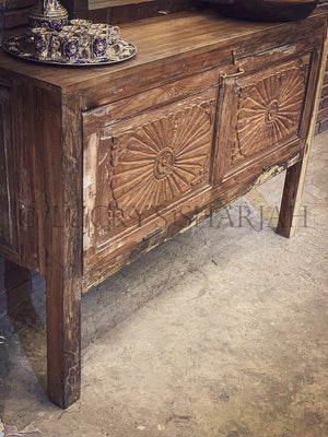 "Recycle design  ""Helios"" Entryway Console   lucky-furniture-handicrafts."
