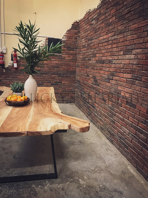 RAW Live edge dining table   lucky-furniture-handicrafts.