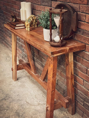 Acacia Wood Minimalist console   lucky-furniture-handicrafts