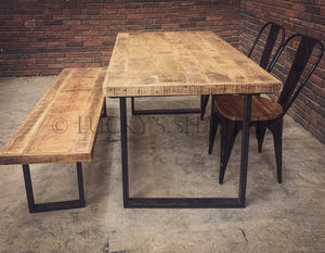 Rough Mango Table U Legs   lucky-furniture-handicrafts